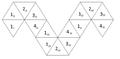 Blattbündelorientierte Netzbeschriftung eines Pentahexaflexagons, Ordnung 1-4.png