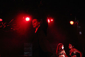 Blutengel - Blutengel's Chris Pohl performing in 2004