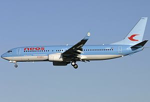 Neos (airline) - Neos Boeing 737-800.