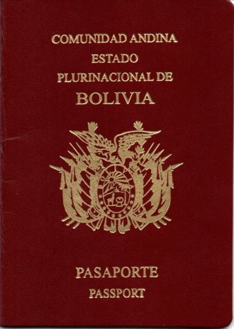 Visa requirements for Bolivian citizens - A Bolivian passport