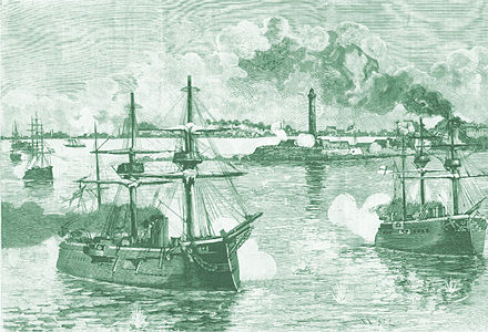 Alexandria: bombardment by British naval forces Bombardamento Alessandria 1882.jpg