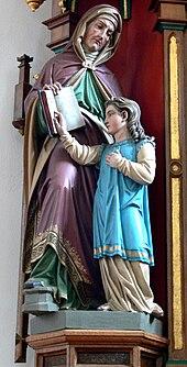 Boos Pfarrkirche Seitenaltar rechts Anna und Maria.jpg