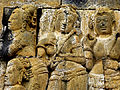 Borobudur - Lalitavistara - 015 E, The Queen wishes to meet King Suddhodana in the Asoka Park (detail 2) (11247779516).jpg
