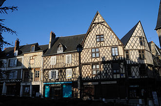 Bourges - Half-timbered houses in Place Gordaine