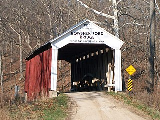 Bowsher Ford Covered Bridge place in Indiana listed on National Register of Historic Places