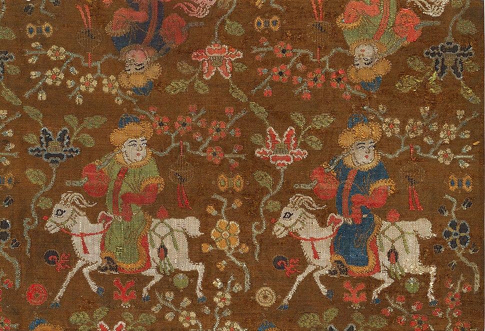 Boys riding goats, 15th-16th C