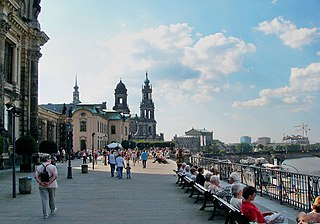 historic architectural ensemble in Dresden, Germany