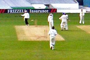 2005 English cricket season - Bradford/Leeds UCCE celebrate after beating Surrey