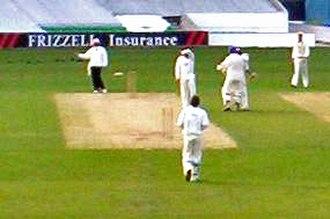 2005 English cricket season - Bradford/Leeds UCCE celebrate after beating Surrey