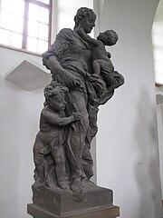 sochy Ctností a Neřestí na zámku Kuks