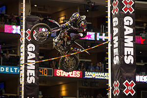 X Games - Brian Deegan at X Games 17 in Los Angeles competing in the Moto X Step Up event.
