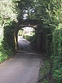 Bridge on old railway line crosses road - geograph.org.uk - 1000445.jpg