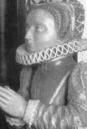 Bridget de Vere, Countess of Berkshire - Effigy of Bridget de Vere on her tomb at Westminster Abbey