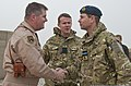 Britain's Prince Edward, right, shakes hands with U.S. Air Force Brig. Gen. Thomas Deale, the commander of the 451st Air Expeditionary Wing, at Kandahar Airfield in Afghanistan Dec. 20, 2011 111220-F-XH170-474.jpg