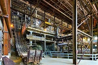 Britannia Mines Concentrator - The gravity-fed concentrator