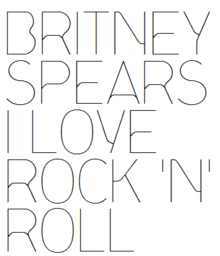 Description de l'image Britney Spears - I Love Rock 'N' Roll Logo.png.
