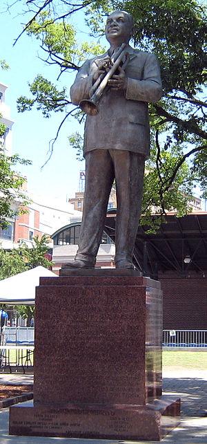W. C. Handy - Bronze statue of Handy in Handy Park, Beale Street, Memphis, Tennessee