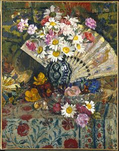 Brooklyn Museum - Still Life with Fan - Georges Lemmen.jpg