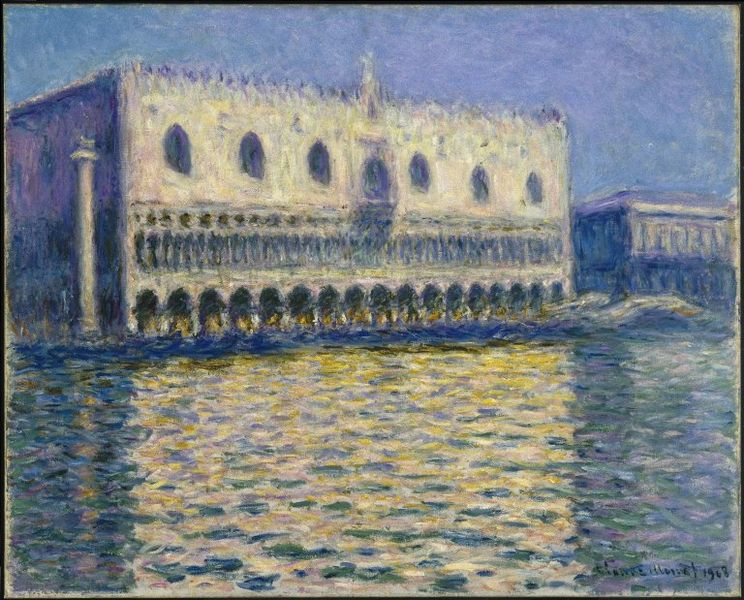 The Doge's Palace (Le Palais ducal). Monet.