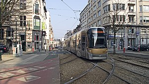 Brussels tram route 7 - T4004 at Legrand, 2010.