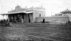 Compañía General de Ferrocarriles en la Provincia de Buenos Aires - Buchanan train station, September 1910.