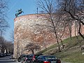 Buda Castle. Citizen quarter. Veli Bey Kulesi. (Veli Bey tower) the Transylvanian Second Hussars memorial..JPG