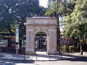 Parque Tres de Febrero - Zoo entrance.