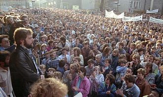 Demonstration (protest) - Monday demonstrations in East Germany helped to bring down the Berlin Wall.