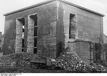 Umbau des Schützenparkbunkers, 1949