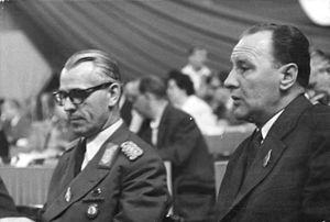 János Kádár - Willi Stoph and János Kádár in East Berlin, 1958.