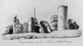 Burgruinen Warburg (Franz Josef Brand, ca, 1825).png