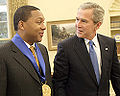 Bush Wynton 2005 National Medal of Arts.jpg