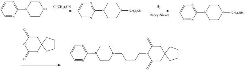 Buspirone synthesis.png