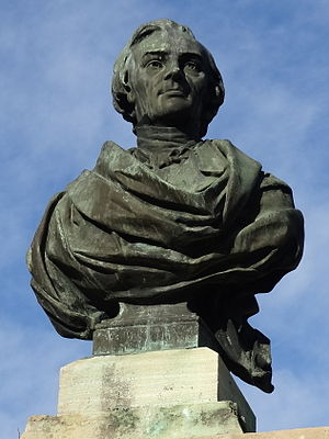 Frédéric Bastiat - Bust of Frédéric Bastiat in Mugron, France