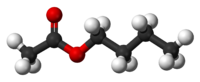 Ball-and-stick model of butyl acetate
