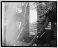 CEMENT MILL, INTERIOR LOOKING NORTH - Shepherdstown Cement Mill, River Road, Shepherdstown, Jefferson County, WV HAER WVA,19-SHEP.V,4-9.tif