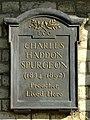 CHARLES HADDON SPURGEON (1834-1892) Preacher Lived Here.jpg