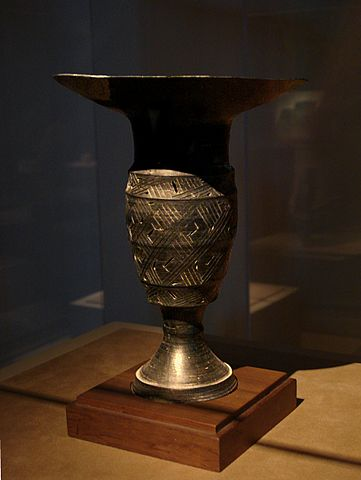 Black Pottery Goblet,Shandong Longshan Culture,Late Neolithic Period
