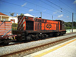 CP 1550 Series locomotive in Tunes Train Station, Portugal - 20080416.jpg
