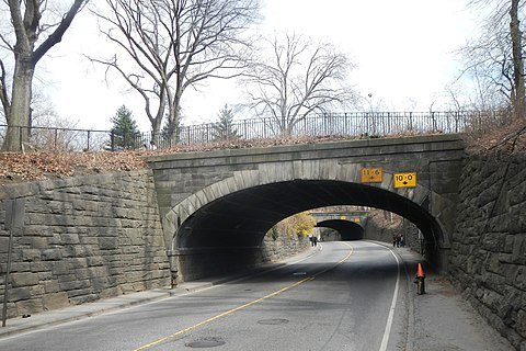 66th Street transverse CP Transverse Rd 1 west arches cloudy early spring jeh.jpg