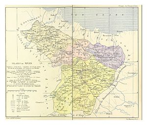 Sivas Vilayet - Sanjaks of the Vilayet in 1890