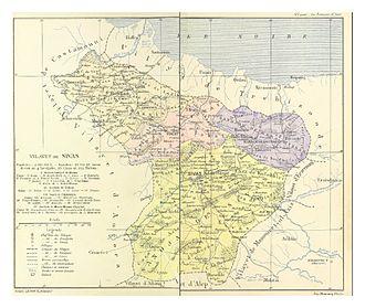 Sivas Vilayet - Sanjaks of the Vilayet in 1890