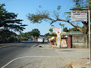 Caba, La Union - Caba town center along the National Highway