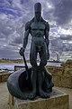Caesarea Maritima - bronzen mannelijk naakt met Orot Rabin.jpg