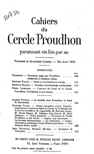 File:Cahiers du Cercle Proudhon, cahier 3-4, 1912.djvu