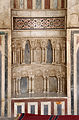 Cairo, cittadella, moschea di an-nasr mohammed, 1318-1335, mihrab 03.JPG