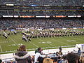 Cal Band performing pregame at 2008 Emerald Bowl 12.JPG