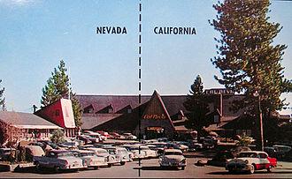 Cal Neva Lodge & Casino - Postcard of the lodge, c. early 1960s.