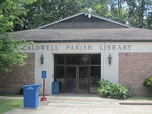 Caldwell Parish, Louisiana - Image: Caldwell Parish Library, Columbia, LA IMG 2718