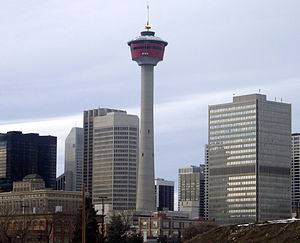 The Amazing Race Canada 4 - The Roadblock in Calgary had teams rappel down the Calgary Tower